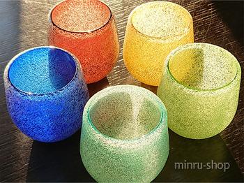 琉球ガラスのグラス~恐竜のたまご